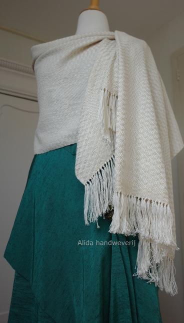 Sjaal katoen en zijde met gouddraad