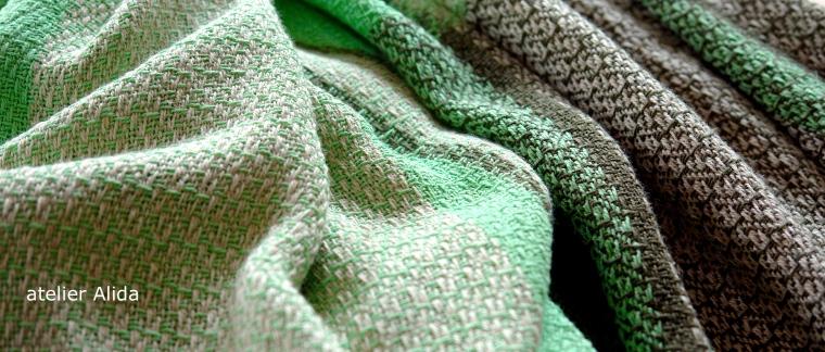 katoen linnen groene sjaal