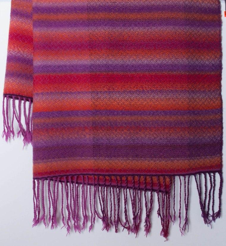plaid wol meerkleur gr