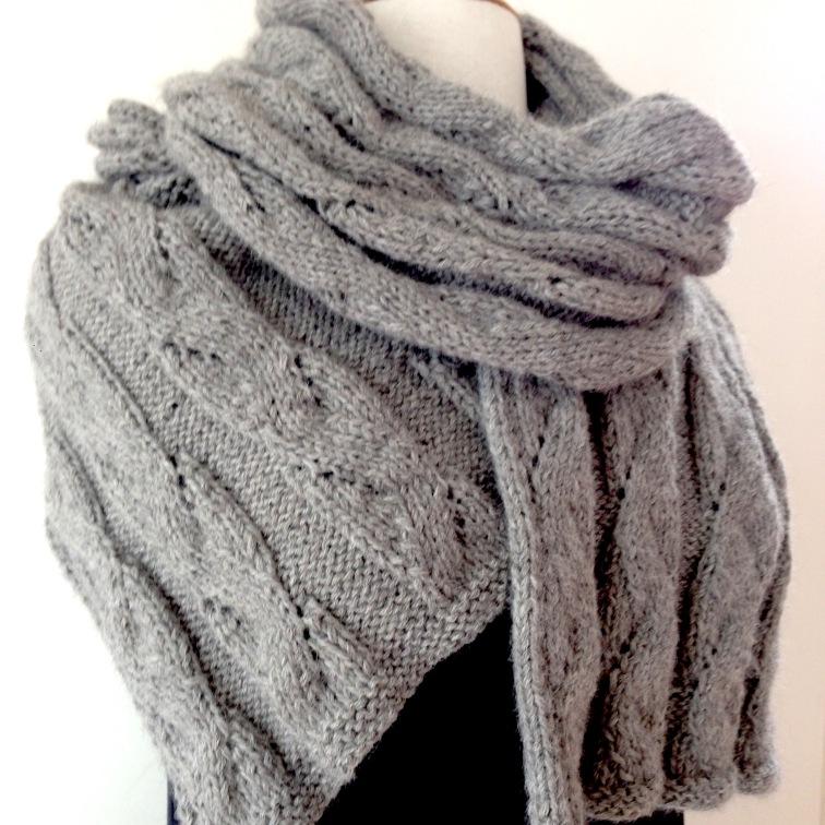 sjaal alpaca grijs om