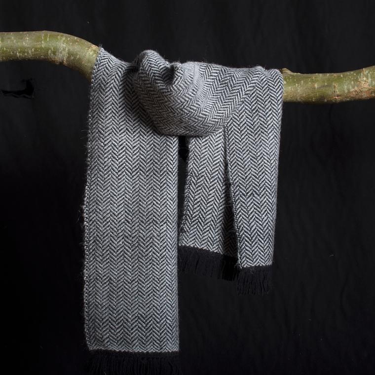 shawl alpaca visgraad kopie