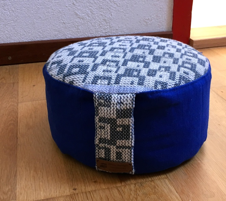 poefje blauw linnen : katoen
