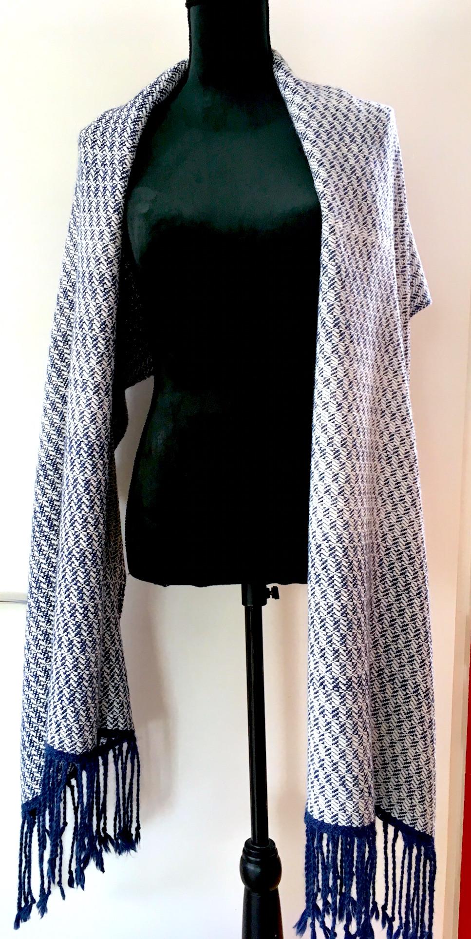 shawl blokkerper alpaca-zijde