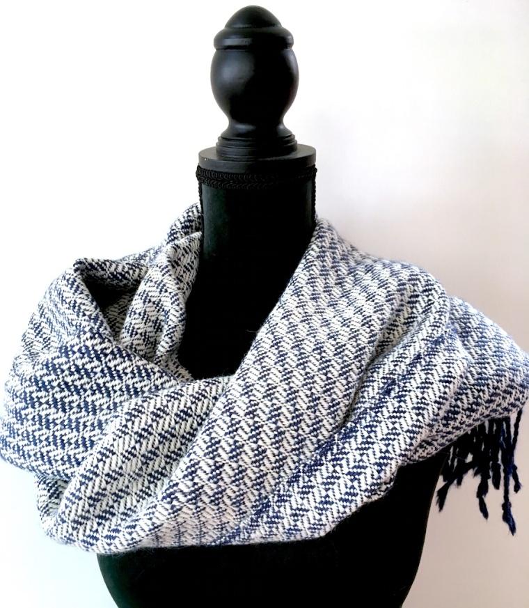 shawl o, blokkeper alpaca zijde