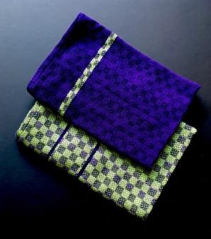 groen, blauw paars