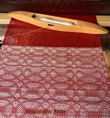 rode en witte zijde