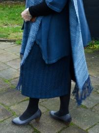 Blauwe rok
